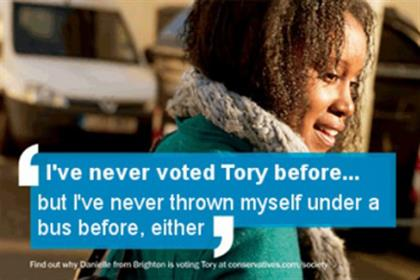 Tory campaign: spoofed by Labour