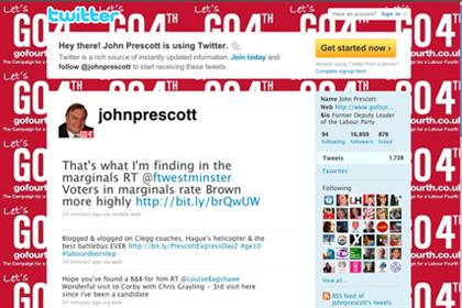 John Prescott: causing a stir via Twitter