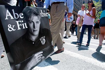 Abercrombie & Fitch: recently removed its logo from its range