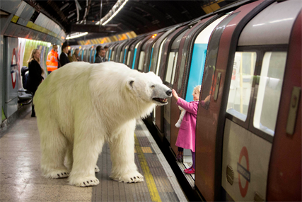 Sky Atlantic: a polar bear was unleashed on the streets of London to promote new drama