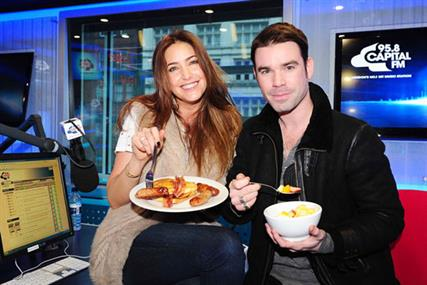 Lisa Snowdon and Dave Berry: co-hosts of 95.8 Capital FM's breakfast show