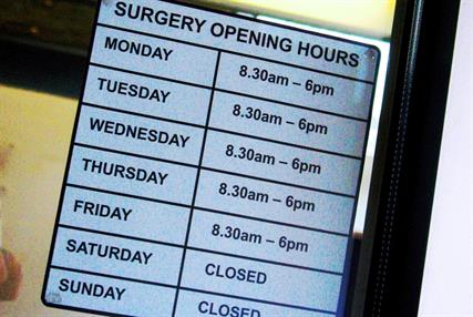 Opening times: practices normally closed on Saturday asked to open for free over Easter