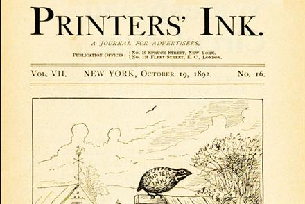 History of advertising: No 156: Printers' Ink