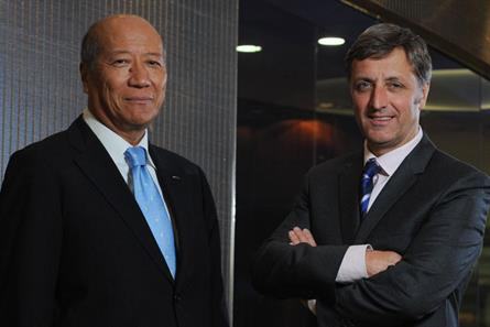 Tadashi Ishii, president & CEO of Dentsu Inc and Jerry Buhlmann, chief executive of Aegis Group