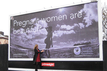 Campaign: Billboards featuring images for Jentle Childbirth Foundation