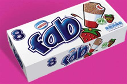 Fab lollies: an R&R Ice Cream brand produced for Nestlé