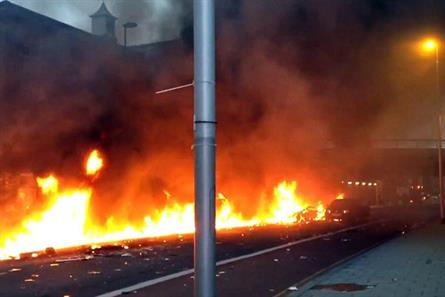 Citizen journalism: Twitter pic from the London helicopter crash