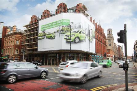 Ocean Outdoor: creates central Manchester's largest banner site on Deansgate