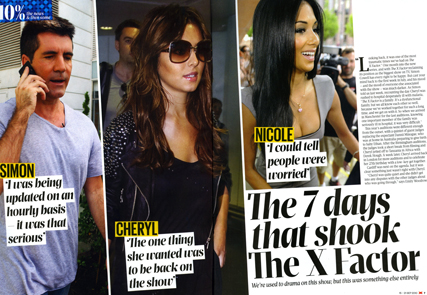 Issue one of X Magazine leads with Cheryl Cole's deadly battle with malaria