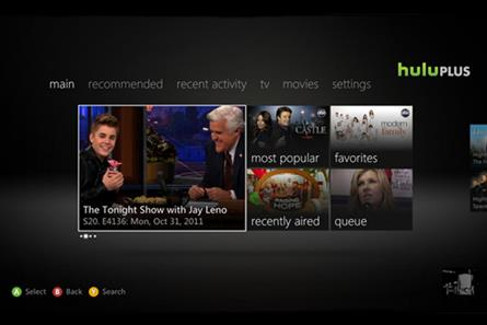 Hulu, as it will appear on Xbox US
