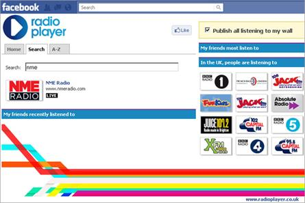 Radioplayer: launches Facebook app