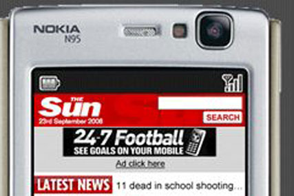 Sun.mobi: relaunched mobile site designed to be slicker and graphic rich
