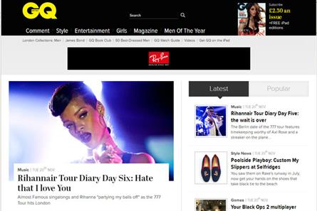 GQ: revamped website goes live this week