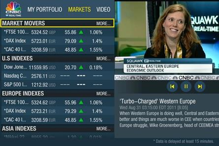CNBC: rolls out Real-Time TV app in the EMEA region