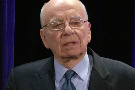 Rupert Murdoch: uses Twitter to deny report concerning Sunday tabloid launch
