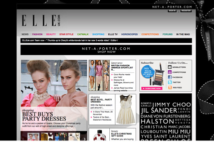 Elle.com: revamped website offers good selection of content