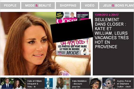 Mondadori: published Duchess photos on French website