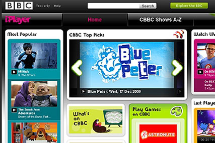 Kids' stuff: the BBC iPlayer for CBBC provides a dedicated area for children's on-demand viewing