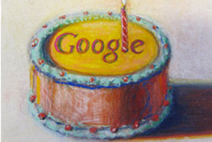 Twelve today: Google marks birthday with cake image