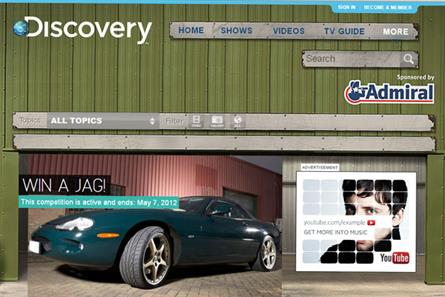Discovery Networks UK: Admiral to sponsor motoring content for 12 months