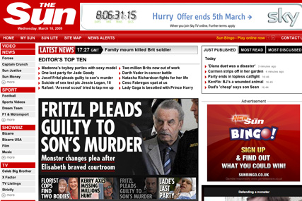Sun Online: launching TV quiz show