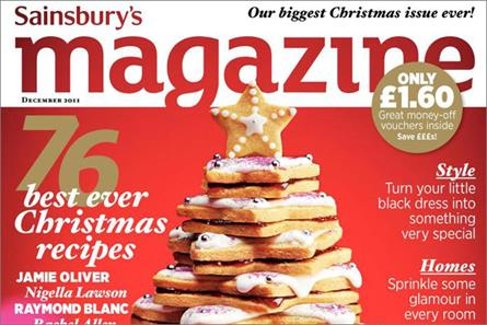 Sainsbury's: readies bumper Christmas 2011 issue