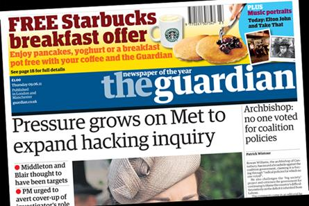 The Guardian: launches free Starbucks breakfast offer