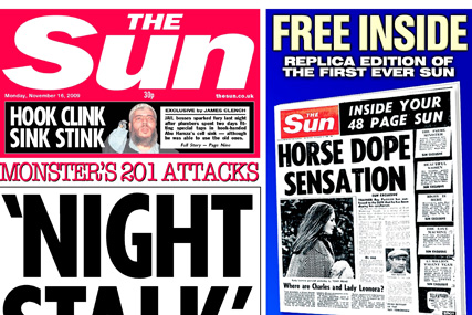 The Sun: dipped below the three-milllion circulation mark in November