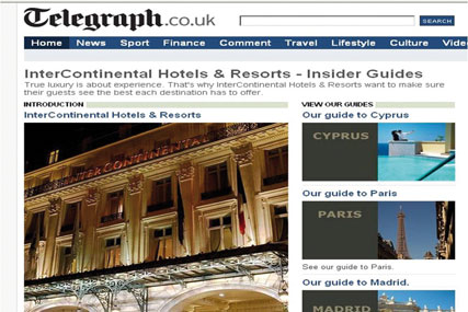 InterContinental Hotels uses Telegraph TV