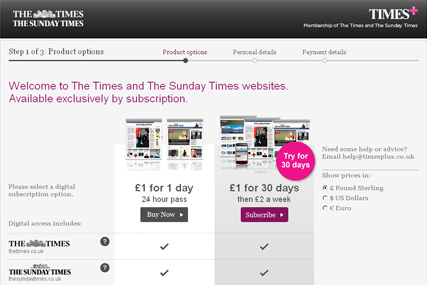 The Times: paywall comes in to play