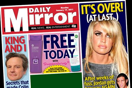 The Daily Mirror: offers free Superdrug products