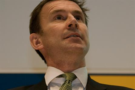 Jeremy Hunt: the culture secretary at the Oxford Media Convention today (picture credit: MediaGuardian/James Young