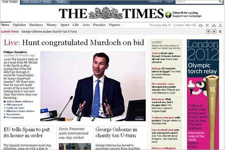 The Times: to offer free access to website over the Jubilee weekend