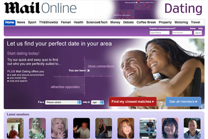 Mail Online: new dating website
