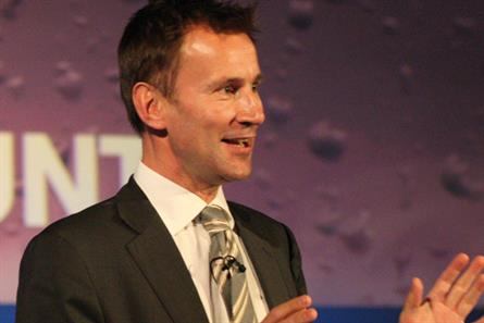 Jeremy Hunt: Secretary of state for culture, media, sport and Olympics