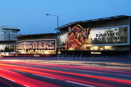 Cromwell Road: site of 3D billboard promoting latest Transformers film