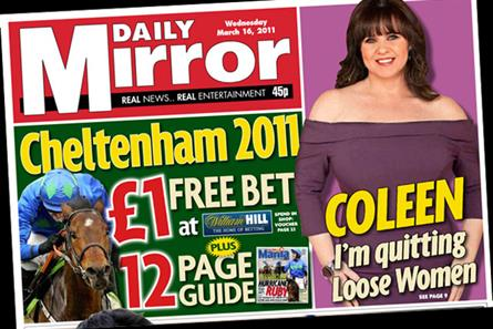 The Daily Mirror: Free William Hill bet
