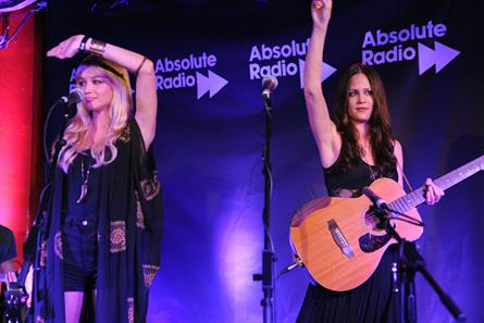 The Pierces perform on behalf of Absolute Radio and Kronenbourg