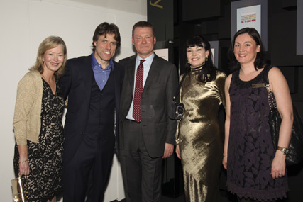 Rhona Livesey from the NMA, comedian John Bishop, News International Commercial md and NMA chair Paul Hayes, NMA chief executive Maureen Duffy and the NMA's Delores Ambrosio