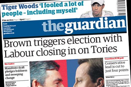 The Guardian: seeking to outsource production of its guides