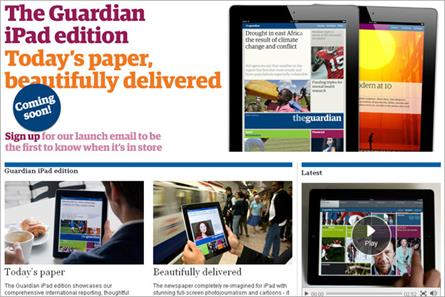 Guardian: announces the soon-to-launch iPad edition
