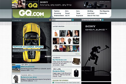 The revamped GQ.com