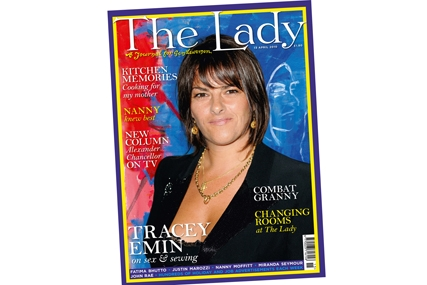 The Lady: Trace Emin graces the magazine cover