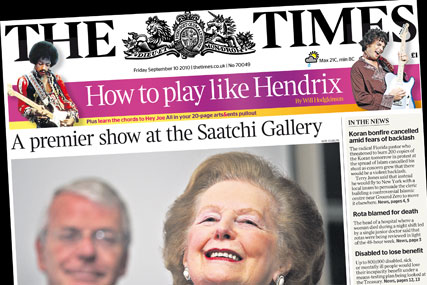 The Times: circulation falls below 500,000