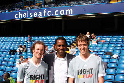 New role: former Chelsea player Ken Monkou, centre, publisher of new aspirational magazine