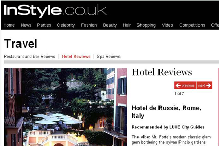 InStyle: offers channel travel in partnership with Luxe City Guides