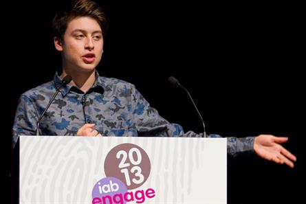 Nick D'Aloisio: addresses the audience at IAB Engage 2013