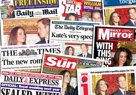 Royal engaement: fails to boosts newspaper sales