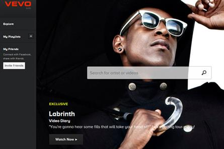 Vevo: relaunches with social playlists using information from Facebook and iTunes