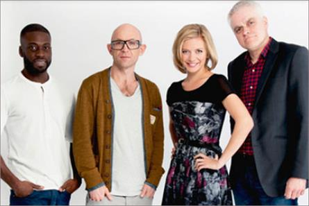 The Gadget Show: presenters Ortis Deley, Jason Bradbury, Rachel Riley and Jon Bentley